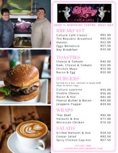 Li'Shaz menu