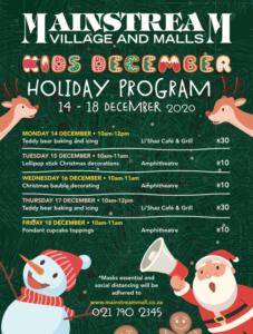 Mainstream Mall Kids Holiday program